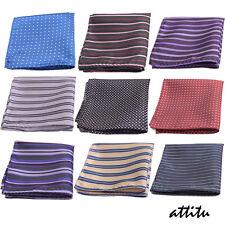 Elegant Men Pocket Square 960 Ends Handkerchief Wedding ATTITU Marlow Series