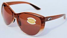 0b6b3539eb4f COSTA DEL MAR La Mar 580P POLARIZED Sunglasses Womens Wood Fade/Copper NEW