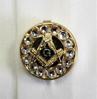 """Freemasons Masonic Shirt Button Covers GOLD with """"G""""  Set of 5 button covers"""