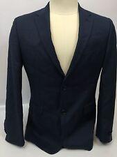 Tommy Hilfiger Mens Blazer Navy Wool Jacket size R 38