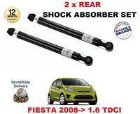 FOR FORD FIESTA 1.6 TDCI 90BHP 2008 > NEW 2 X REAR SHOCK ABSORBER SHOCKER SET