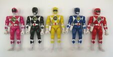 "Lot of 5 POWER RANGERS 8"" Action Figures Bandai MMPR Red Blue Black Yellow Pink"