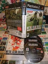 Playstation 2 PS2:Metal Gear Solid 3 Subsistence  [TOP & 1ERE EDITION RARE] Fr