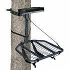 Realtree Hang-on Hunting Tree Stand Flip-Up Seat Backpack Straps Safety Harness
