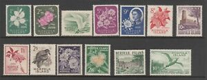 Norfolk Island 1960-62 SG 24 to 36 MNG except 10/- Bird in Fine MNH