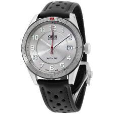 Oris Silver Dial Black Leather Strap Men's Watch 73376714461LS