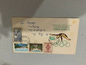Australia 1956 fdc Olympic games Melbourne first day cover