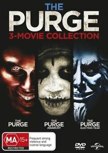 The Purge, Anarchy, Election Year 3 Movies Collection DVD New Sealed R4