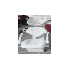 Poltrona lavatesta mod.961 ecopelle bianca uso professionale salone parrucchiere