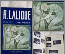 Catalogue Raisonné De L'oeuvre De Verre FÉLIX MARCILHAC livre René Lalique Book
