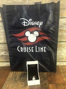 New Pandora Disney Cruise Line Castaway Cay 2 Sided Logo Charm Gift Bag Lot