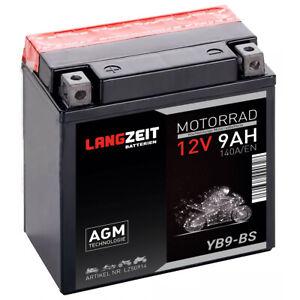 Langzeit AGM Motorrad Batterie YB9-B 9Ah 12V 140A/EN Quad Roller Batterie CB9-B