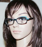 350$ New FACE A FACE Made in France Blue & Black Lace Frame Eyeglasses Glasses