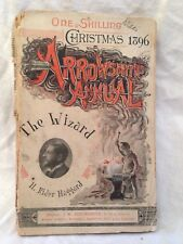 H Rider Haggard - The Wizard - 1st 1896, Arrowsmith Annual, Vintage Wraps