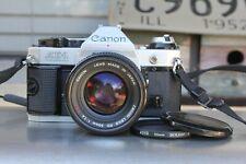 New ListingCanon Ae-1 Program 35mm Slr Film Camera with Canon Fd 50mm F1.4 S.S.C. Lens