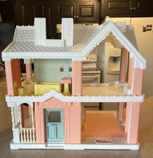 Vintage 1991 Playskool Victorian Dollhouse Pink