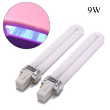 2X 9w uv lamp bulbs for nails lamps replacement gel nail dryer uv light bulb ME