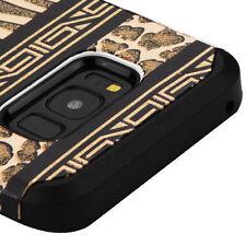 For Samsung Galaxy S8+ PLUS - Zebra Leopard Skin Glitter Hybrid Armor Case Cover