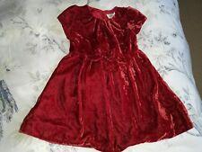 Mini Boden Girls Red Velvet Dress Age 1.5 - 2 Years