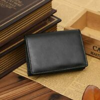 Genuine Leather Men's Mini Wallet Bifold ID Credit Card Holder Purse Money Clip