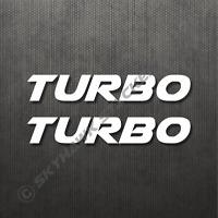 Turbo Sticker Set Vinyl Decal For Honda Civic Turbocharged Car Sticker JDM Dope