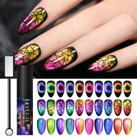 11Pcs/Set LILYCUTE 9D Chameleon Cat Eye UV Gel Nail Polish Magnetic Stick Kit