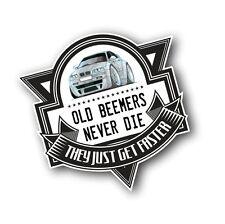 Koolart beemers antiguas nunca mueren slogan para Retro BMW E46 3 Series M3 Auto Adhesivo