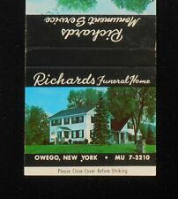 1950s Richards Funeral Home and Monument Service Tombstones Owego NY Tioga Co