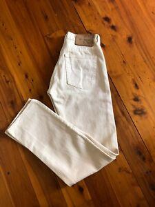 Vintage CALVIN KLEIN JEANS Cream 100% Cotton High Rise Jeans W27 L32