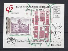 AUCT1204) Spain 1992, Granada Philatelic Exhibition, Santa Fe Mini Sheet, MUH