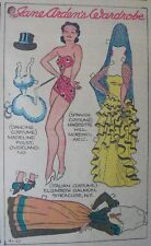 Jane Arden Sunday with Large Uncut Paper Doll from 9/27/1936 Full Size Page!