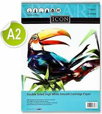A2 Sketch Pad 30 Sheets Spiral Bound 110 gsm cartridge paper