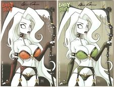 Lady Death Echoes 1. Crimson & Emerald Naughty Trampy Editions. Matched #9's!