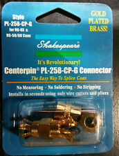 """New SHAKESPEARE PL-258-CP-G Centerpin Connector """"easy way to splice Coax"""""""