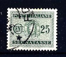 ITALIA - Regno - Segnatasse - 1934 - Stemma sabaudo con fasci - 25 c verde