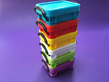 6 0.07 LITRE REALLY USEFUL BOX SET GREAT FOR CRAFT ART DIY AND MORE