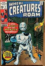 WHERE CREATURES ROAM COMIC (MARVEL,1970) #2 BRONZE AGE ~