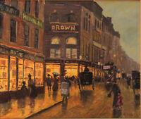 Original Ölgemälde Straßenszene London? signiert
