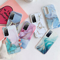 For Samsung S21 Ultra S20 FE Note 20 A51 A71 A50 Marble Soft Silicone Case Cover