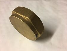 "1 1/2"" Brass BSP Thread End Cap, Blanking Cap"