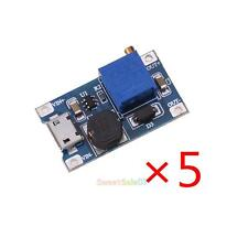 5 x DC-DC 2A Converter Module Adjustable Step Up Boost Power Supply 2-24v Input