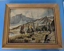 Vintage Picture Stanley M Long Watercolor Artwork Framed Print Painting