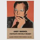 Andy Warhol Rare Vintage 1976 Original Willy Brandt Large Poster