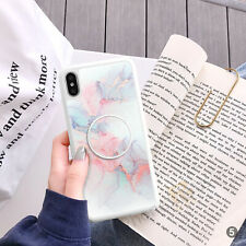 Marble Phone Case Cover And Pop Up Finger Holder For iPhone Samsung ETC 106-5