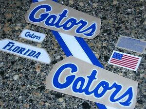 FLORIDA GATORS Football Helmet Decal Set FULL Size 3M 20MIL
