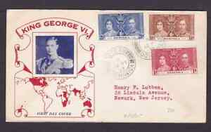 Dominica 1937 FDC 1st day cover to the USA KGVI coronation #1
