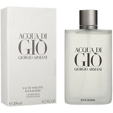 ACQUA DI GIO 6.7 OZ 200 ML MEN'S EAU DE TOILLETTE SPRAY BY GIORGIO ARMANI SEALED