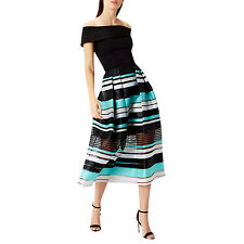 Coast Sofia Stripe Print Skirt Black/Multi Size UK 12 LF075 DD 09