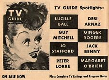 1957 Tv Guide Ad~LUCILLE BALL by AL HIRSCHFELD ON SALE NOW~I LOVE LUCY & DESI