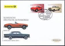 BRD 2015: BMW 507+Mercedes Benz 220 S Post-FDC selbstklebende Nr 3147+3148 1801